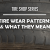what are tire wear patterns